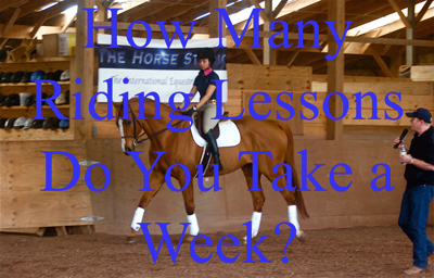 How Many Riding Lessons Do You Take a Week?